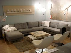 IKEA Karlstad Corner Sofa leather | So, I checked out the IKEA options and found Karlstad. Here's a ..