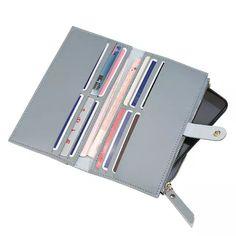 e5a811144 R$ 12.97 |Mulheres Carteiras de Couro Bonito Da Moeda Da Carteira de Longo  Bolsa Zip Mulheres Titular do Cartão de Embreagem Saco De Dinheiro Senhora  Bolsas ...