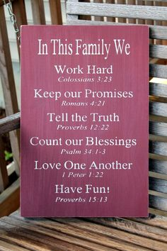 Great rules for any family.