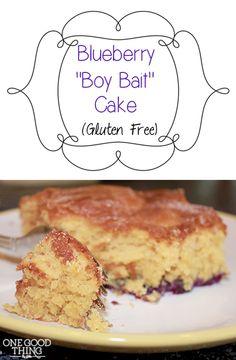 """Blueberry """"Boy Bait"""" Cake {Gluten Free}"""