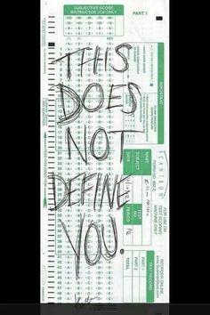 Nursing tests don't define me