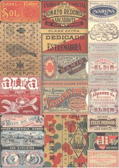 Mens Collections: Vintage Match Box and Rolling Paper Art