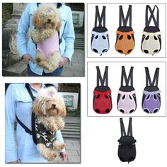 Pet Puppy Dog Carrier Backpack Front Tote Net Bag - DoggyMarket