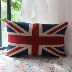 Sherlock Holmes Movie Props Union Jack Cushion by SnowLittleShop, $12.00