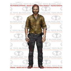 Figura Rick Grimes 13 cm. Serie 6. The Walking Dead. Mcfarlane Toys Espectacular figura articulada de Rick Grimes de 13 cm de la serie 6, fabricada en material de PVC y 100% oficial y licenciada perteneciente a la exitosa serie de TV The Walking Dead.