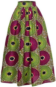 Women African Traditional Costume Ankara Print Skirt Dashiki Long Skirts (X-Large, B) Long African Skirt, African Print Skirt, African Print Dresses, African Dress, African Wear, African Style, African Fashion Designers, Latest African Fashion Dresses, African Print Fashion