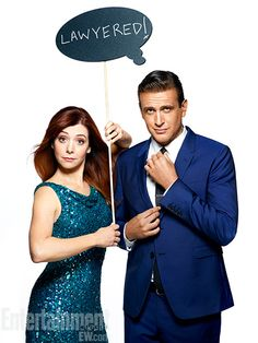 Alyson Hannigan & Jason Segel ~ How I Met Your Mother Season 9 Portraits ~ Photographed by Justine Stephens ~ August EW Portraits Best Tv Shows, Best Shows Ever, Favorite Tv Shows, Movies And Tv Shows, How I Met Your Mother, Would You Rather Questions, This Or That Questions, Marshall And Lily, Ted Mosby