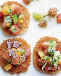 Parmesan Tuiles with Heirloom Tomato Salad Recipe on Food & Wine
