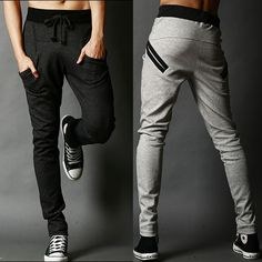 NEW Men's Casual Sporty Harem Taper Sweatpants Sweat Sport Pants Trousers Jogger Harem Pants Men, Baggy Pants, Slim Pants, Long Pants, Jogger Pants, Trousers Mens, Slacks Pants, Mens Joggers, Male Fitness