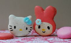 best friends forever! Hello Kitty and My Melody macarons :)