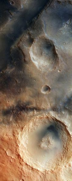 The Syrtis Major Volcanic Province. Acquired by the High Resolution Stereo Camera on ESA's Mars Express Satellite, this image depicts a detailed region of the Martian Nili Fossae Graben system. This system is an area of great interest to geologists due to the variety of its landscape. The graben system contains numerous troughs, plateaus, impact craters and depressions.