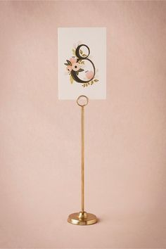 "#1: Golden Spindle Cardholder at BHLDN | Style / Details: -- 12"" height (Average height for classic table number stands) 