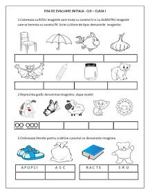 Fise de lucru - Scolari I - IV: FISA de EVALUARE INITIALA - CLASA I - CLR (Comunicare in limba romana) Fairy Tale Activities, Educational Activities For Kids, Preschool Activities, Alphabet Writing, Preschool Writing, English Lessons For Kids, Kindergarten Math Worksheets, Math For Kids, School Lessons