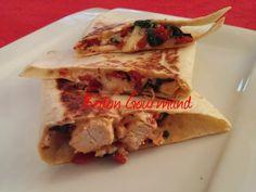 Quesadillas au poulet, aux épinards et au suisse canadien
