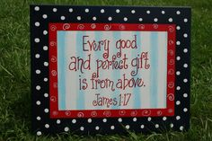 Every Good and Perfect Gift Bible Verse 11x14 by TheMerryMarket, $28.99