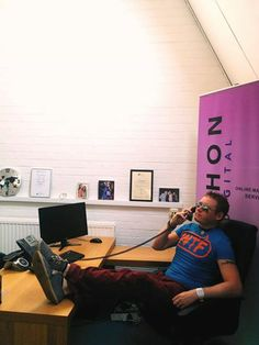 Our 'new guy' Terry started work in the UK office!