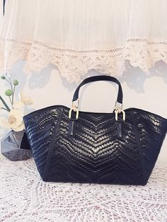 Sacoche noir élégant sac en cuir noir sac en cuir par PomponiBags