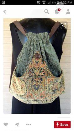 PatchworkTapestry Backpack Boho Backpack by piperscrossing Estilo Hippie, Diy Handbag, Boho Bags, Chenille, Patchwork Bags, Denim Bag, Fabric Bags, Handmade Bags, Refashion