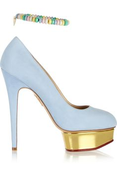 Charlotte Olympia|Sweet Dolly suede pumps|NET-A-PORTER.COM