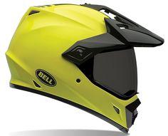 Bell MX-9 Adventure Solid Hi-Vis Motorcycle Helmet - Motorcycles508