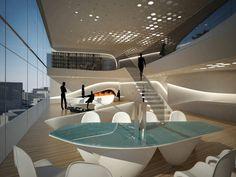 zaha hadid, Chinese architecture, futuristic concept, sky soho, Shanghai