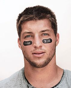 When Tim Tebow wore John 3:16 on his eye black to a certain game, over 92 million people looked that verse up on Google. That means over 92 million people heard the Gospel just because one man took a stand.