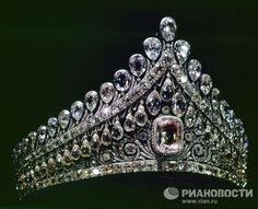 diamond diadem of Elizabeth Alexeyevna, the wife of Emperor Alexander I