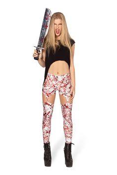 Blood Splatter Suspenders (48HR) by Black Milk Clothing