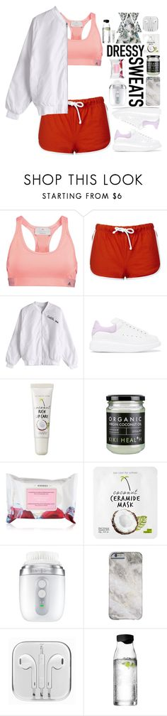 """#100"" by lenabitkina on Polyvore featuring мода, adidas, Topshop, Alexander McQueen, too cool for school, Korres, Clarisonic, Menu и sweatpants"