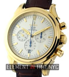 #Omega De Ville Co-Axial Chronograph 41mm iN 18k Yellow Gold With A Silver Dial (4641.30.32)