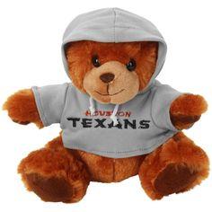 Houston Texans Seated Hoodie Bear - Brown