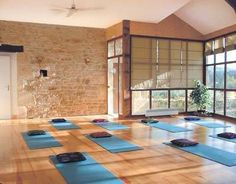 yoga studio, wow, gorgeous! I would love to have one like this someday of course, when I'm good enough to be a teacher