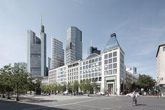 Deutsche Bank Areal Frankfurt raumwerk Gesellschaft für Architektur und Stadtplanung mbH | 2016 Project website: http://www.rendertaxi.de/en/references/projects/01261.deutsche-bank-areal-frankfurt.html #hotel #living #mixeduse #office #photomontage #shopping