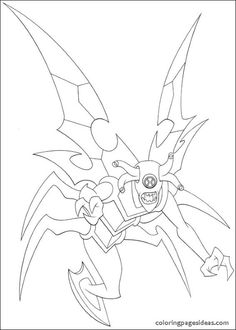 Ben 10 Coloring Pages Ultimate Aliens