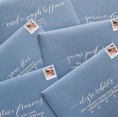 48 ideas wedding invitations ideas creative envelope addressing for 2019 Envelope Lettering, Calligraphy Envelope, Envelope Art, Wedding Calligraphy, Calligraphy Letters, Brush Lettering, Modern Calligraphy, Wedding Fonts, Lettering Styles