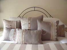 #bedroom lace cushions