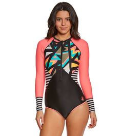 521d31c4fdcfa Body Glove Women s Urbania Surface L S One Piece Swimsuit at SwimOutlet.com  –
