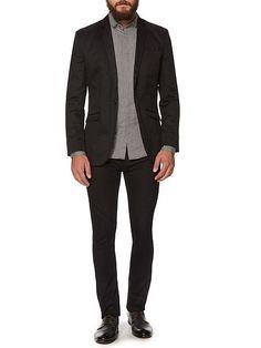 Razor smart cotton linen blazer