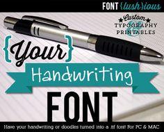 Custom Handwriting Font Order for Diane by FontLushious on Etsy https://www.etsy.com/listing/97959870/custom-handwriting-font-order-for-diane