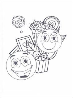 Emojis - Emoticons Coloring Pages 27