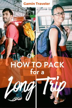 Are you planning a long trip? What to bring in your backpack? Here´s a full guide for packing for a long trip. How to pack for a long trip