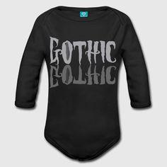 Babybody Mini-Gothics Body Strampler Kleinkind Gothic schwarz