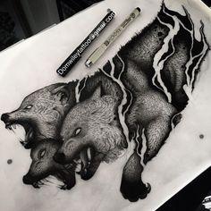 #Cerberus all done, I'd love to tattoo this beast! Domwileytattoo@gmail.com…
