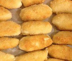 Ein traditionelles spanisches Rezept für Käse Kroketten (Croquetas de queso)