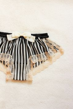 Stripe Chiffon Sleep Boxer/style NINGYO made to by Naomilingerie- this shop is my new obsession