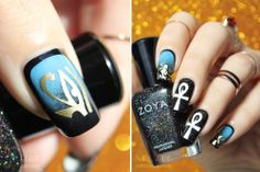 Amazing nails :O and she made those Egyptian decals which makes this even more impressive. I loooove it!