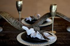 Using Kudu horn as decorations on my African wedding table. Shiloh, Horn, Wedding Table, Wedding Decorations, African, Horns, Wedding Decor, Antlers