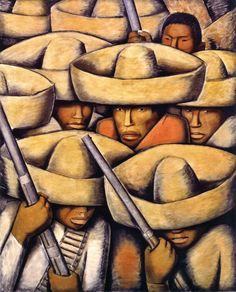 """Zapatistas [formally 'Mexican soliders'],"" c. 1932, by Alfredo Ramos Martínez © Philadelphia Museum of Art"