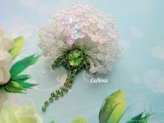 Bead Embroidery Patterns, Beaded Embroidery, Hand Embroidery, Brooches Handmade, Handmade Jewelry, Beaded Brooch, Floral Wreath, Beaded Flowers, Artist At Work