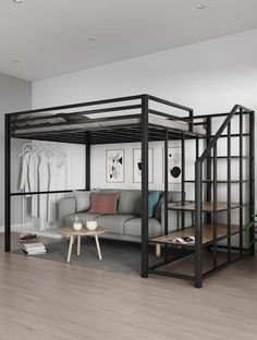 Room Design Bedroom, Home Room Design, Small Room Bedroom, Loft Room, Bedroom Loft, Loft Beds For Small Rooms, Loft Bed Plans, Bunk Bed With Desk, Bed Shelves